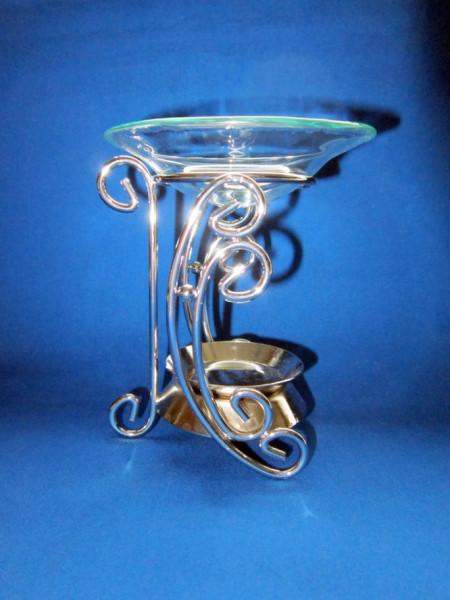 Duftlampe Halbmond Metall