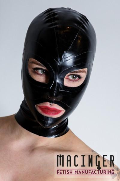 Latex Maske mit Löchern